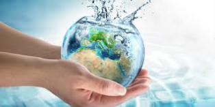Picture of hands holding a world of water